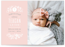Sun Print Florals Birth Announcements