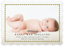 Sweet Scallops Birth Announcements