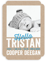 Stamped Out Birth Announcements