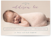 Petite Bow Birth Announcements