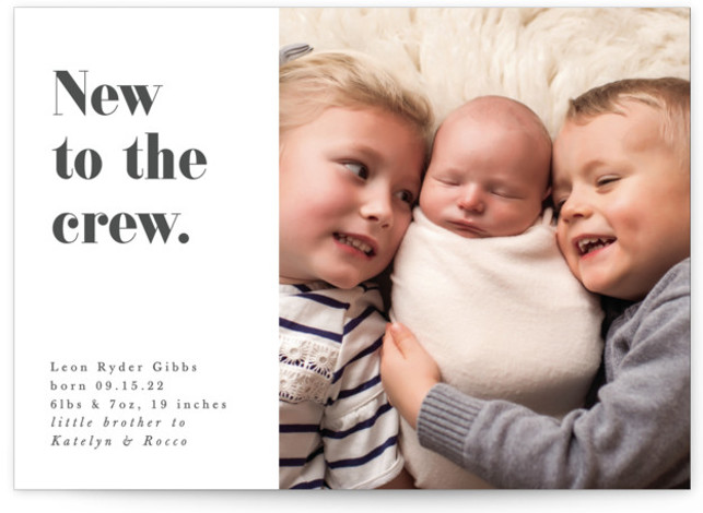 New to the crew Birth Announcements