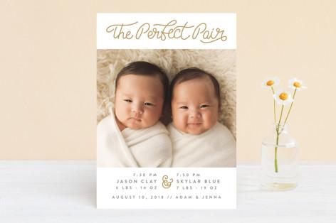 Love Pair Birth Announcements