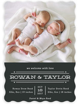 Twin Lines Birth Announcements