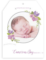 So Sweet Floral Birth Announcements