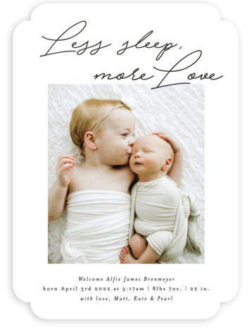 Less Sleep, More Love Birth Announcements