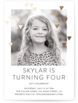 Modern Glow Foil-Pressed Children's Birthday Party Invitations