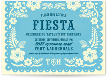 Papel Picado Children's Birthday Party Invitations