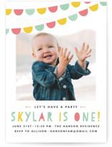 Birthday Bunting Children's Birthday Party Invitations