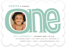 Big One Kids Party Invitations