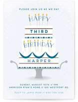 Having A Birthday Is A Piece Of Cake Children's Birthday Party Invitations