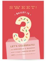 Bright Sprinkles Children's Birthday Party Invitations