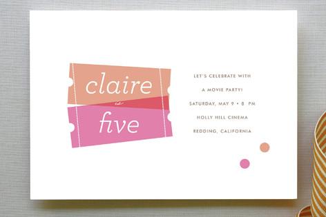 Birthday Ticket Children's Birthday Party Invitations