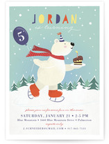 Fun In The Snow Kids Party Invitations