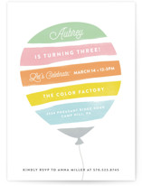 Painted Balloon Children's Birthday Party Invitations