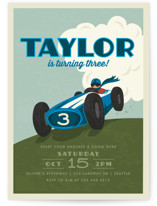 Start Your Engines Children's Birthday Party Invitations
