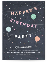 Bright Birthday Bunting Children's Birthday Party Invitations