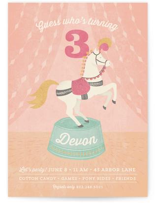 Pony Party Children's Birthday Party Invitations