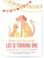 Party Pets Children's Birthday Party Invitations