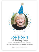 Party Hat Children's Birthday Party Invitations