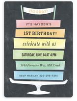 Rainbow Cake Children's Birthday Party Invitations