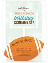Birthday Scrimmage Children's Birthday Party Invitations