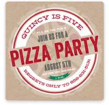 Pizza Pie Children's Birthday Party Invitations