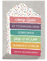 Layer Cake Children's Birthday Party Invitations