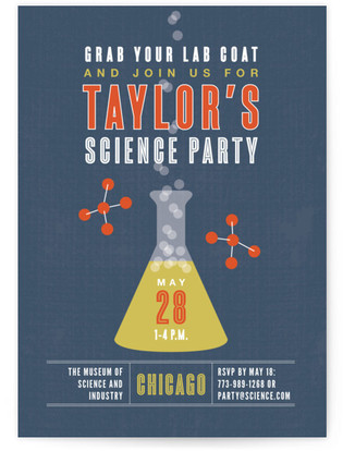 Science Children's Birthday Party Invitations