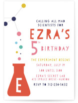 Mad Scientist Children's Birthday Party Invitations
