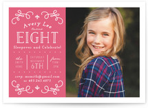 Great To Be Eight Children's Birthday Party Invitations