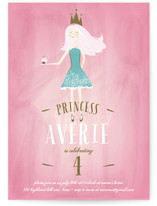Charming Princess Children's Birthday Party Invitations