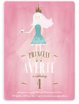 Charming Princess Children's Birthday Party Invitations