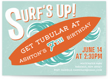 Surf's Up! Children's Birthday Party Invitations