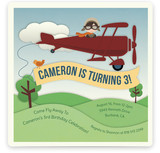 Come Fly Away Children's Birthday Party Invitations