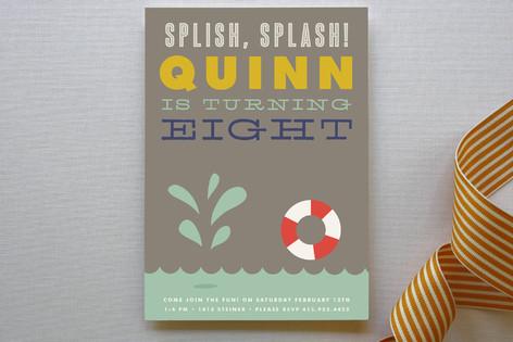 Splish Splash Children's Birthday Party Invitations