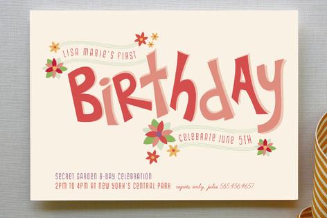 Secret Garden Children's Birthday Party Invitations