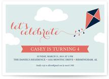 Kite Children's Birthday Party Invitations