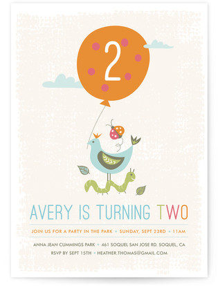 Park Party Children's Birthday Party Invitations