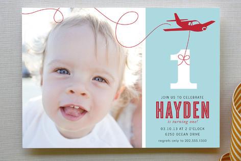 The Birthday Plane Children's Birthday Party Invitations