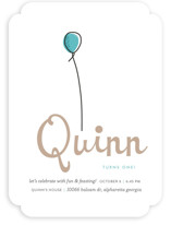Up Up and Away Balloon Children's Birthday Party Invitations