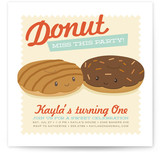 Donut Miss The Party Children's Birthday Party Invitations