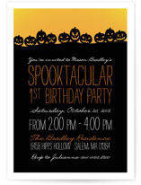 Spooktacular Children's Birthday Party Invitations