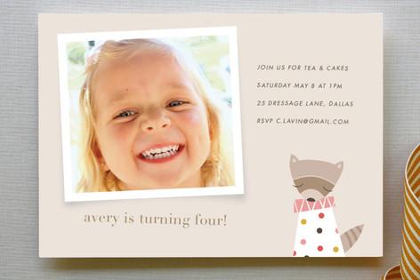 Rosie the Raccoon Children's Birthday Party Invitations