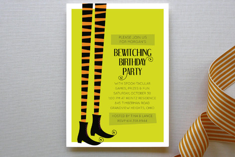Bewitched Children's Birthday Party Invitations