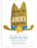 Cowboy Children's Birthday Party Invitations