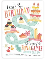 Fun & Games Children's Birthday Party Invitations