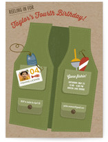 Gone Fishin' Children's Birthday Party Invitations
