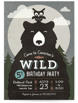Into The Wild Kids Party Invitations