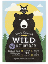 Into The Wild Children's Birthday Party Invitations