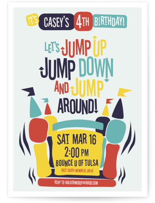 Jump Around! Children's Birthday Party Invitations